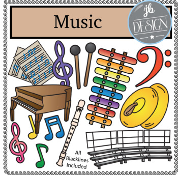 Music Pack (JB Design Clip Art for Personal or Commercial Use)