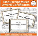 Music Paper Music Award Certificates