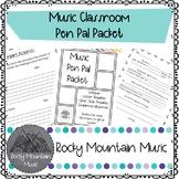 Music Pen Pal Packet