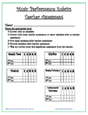 Music Performance Rubrics for Elementary Grades