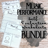 Performance Self Evaluation Worksheets, Bundle