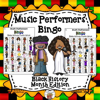 Music Performer Bingo (Black History Month Edition)
