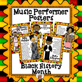 Music Performer Posters for Black History Month