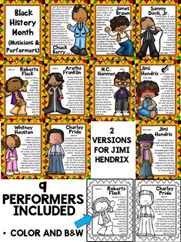 Music Performer Posters for Black History Month (Set 2)