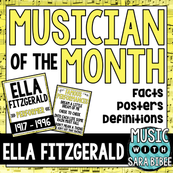 Music Performer of the Month: Ella Fitzgerald Bulletin Board Pack