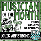 Musician of the Month: Louis Armstrong Bulletin Board Pack
