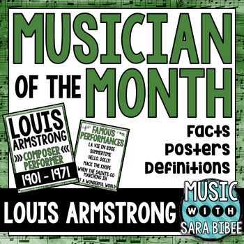 Music Performer of the Month: Louis Armstrong Bulletin Board Pack