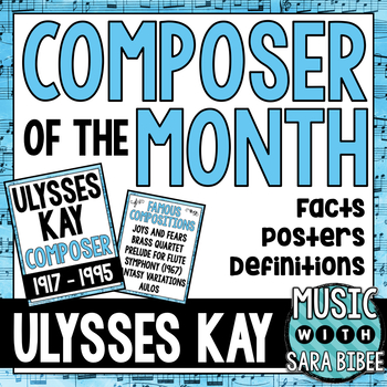 Music Composer of the Month: Ulysses Kay Bulletin Board Pack
