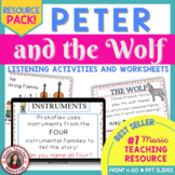MUSIC APPRECIATION: 'Peter and the Wolf': Music Listening Worksheets