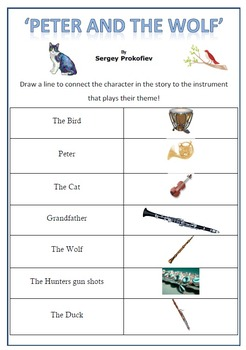 Peter And The Wolf Worksheets Worksheets for all | Download and ...