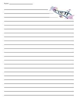 Music Piano Lined Paper
