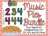 Music Pies BUNDLE - 2/4, 3/4, 4/4 Music Time Signature Manipulative