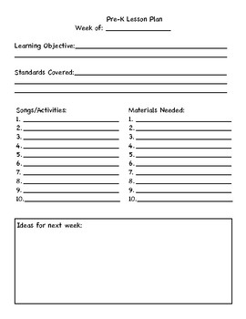 Music Planning Binder Pages