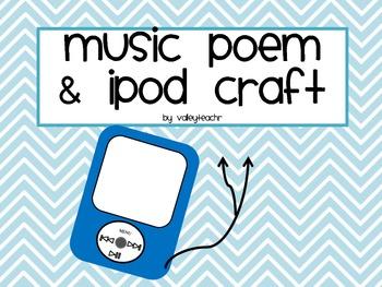 Music Poem and iPod Craft