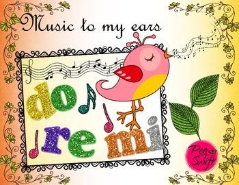 Music Poster Set ~ do re mi
