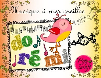 Music Poster Set ~ French do ré mi ~ FREE