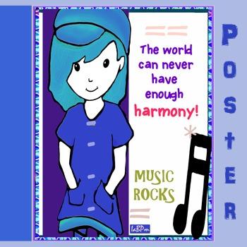 Music Poster: classroom management, harmony