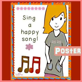 Music Poster:  happy song