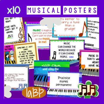Musical Quote Posters - music classroom