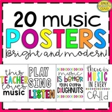 Music Posters (Bright and Modern Music Classroom Decor)