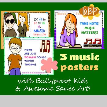 Music Posters: positive attitude