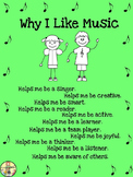 "Freebie: Music Posters ""Why I Like Music"" Inspirational Cl"