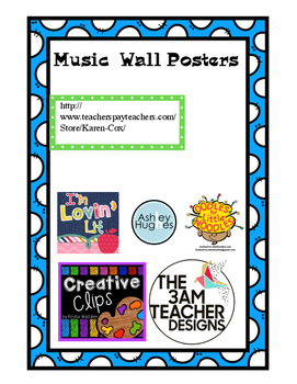 Music Symbols Posters Word Wall