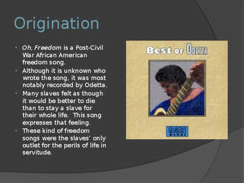Music Power Points for Reconstruction Era