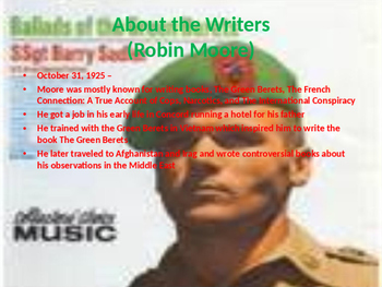 Music Power Points for The 1960s - Vietnam War and Protest Songs