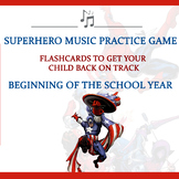 Music Practice Game for Beginning of the Year