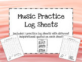 Music Practice Log Sheets