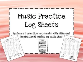Music Practice Log Sheets