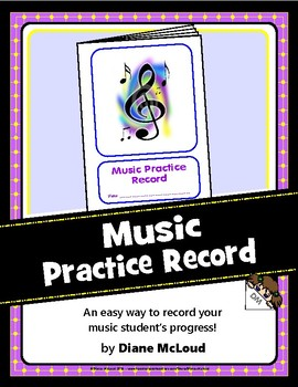 Music Practice Record—Quick and Easy Booklet Template!
