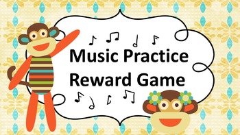 Music Practice Reward Game (Practice Chart)- Sock Monkey Theme