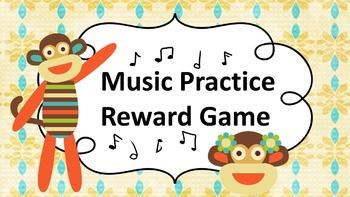 Music Practice Reward Game (Practice Chart)- Sock Monkey Theme