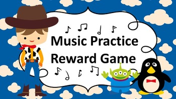 Music Practice Reward Game (Practice Chart) - Toy Story In