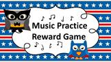 Music Practice Reward Game (Practice Chart) - Super Hero Owl Theme