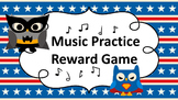 Music Practice Reward Game (Practice Chart) - Super Hero Owl Theme