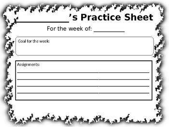Music Practice Sheet