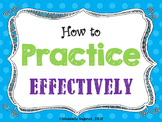Music Practice Tips Posters