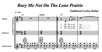 "Music Practice Tool: 1 Song w/ Practice Aids (""Bury Me Not"