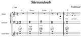 """Music Practice Tool: Sheet Music + 6 Recordings (""""Shenandoah"""")"""