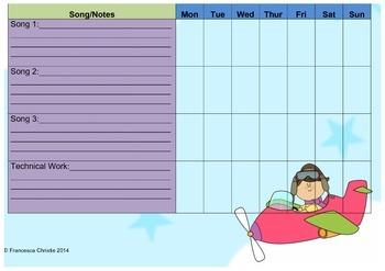 Music Practise Chart
