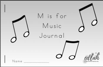 Music Printable Journal