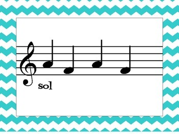 Music Cards: Beginning Sight Reading Sol-La-Mi