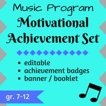 Music Program Motivational Achievement Set