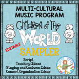 Music Program Sampler: Multi-Cultural Music Program Editable Script