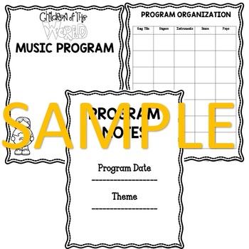 Music Program Sampler: Multi-Cultural Music Program Editable Script