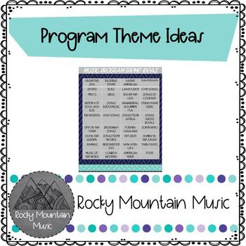 Music Program Theme Ideas