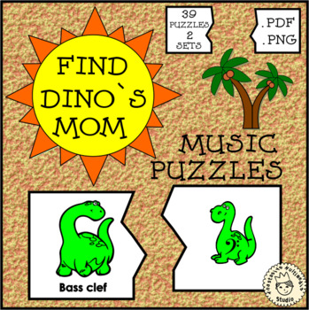 Music Puzzles: Find Dino`s Mom